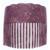 Faux Turtle Shell Comb - Plain - Red